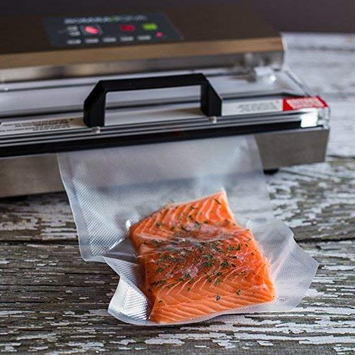 """300 Bags x 10"""" for Food Saver, a Vac BPA Free, Heavy Grade, Sous Vacume Safe, Pre-Cut Universal Embossed Storage Bag"""