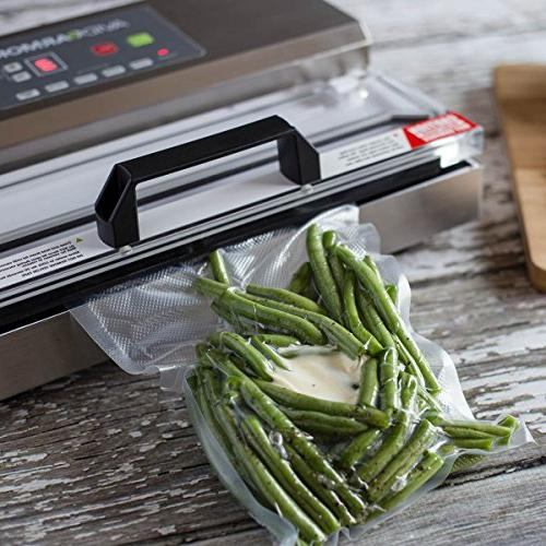 100 Pint Sealer 10 for Food Seal a Meal Sealers, Free, Heavy Commercial Sous Vide Meal Safe, Universal Pre-Cut Bag Design Avid