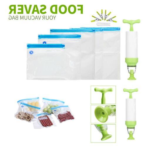 30X Free Food Vacuum Food Bag Sealers Ziplock