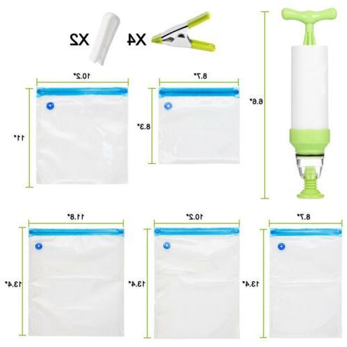 30X Reusable Food Vacuum Ziplock