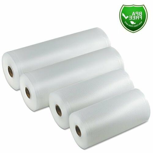 4 rolls 8x50 11x50 vacuum sealer bags
