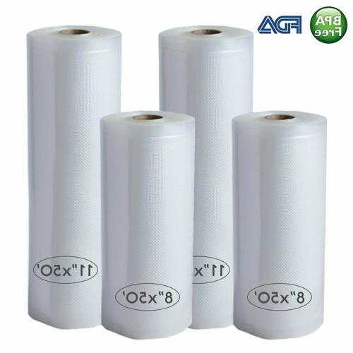 4 vacuum sealer bags roll 8 x50