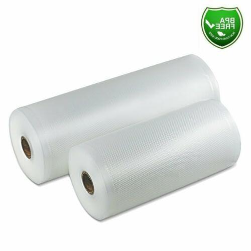 8x50 & 11x50 Food Saver Vacuum Sealer Bags Roll 4Mil Embosse