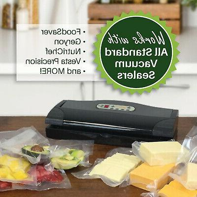8X50 & 11X50 FoodVacBags Rolls Embossed Vacuum Sealer Bags FoodSaver