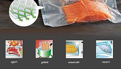 """11""""x50' Food Vacuum Sealer Rolls Embossed Storage Bags"""