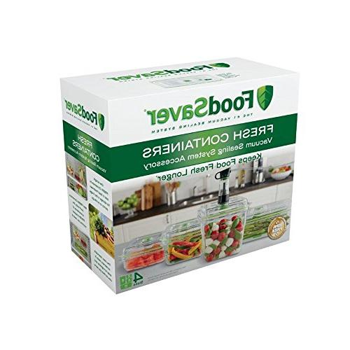 FoodSaver Vacuum Seal Food Containers, 4-Piece 2