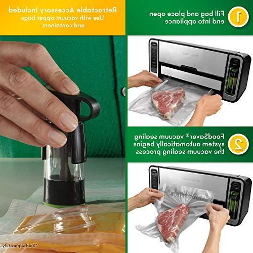 FoodSaver Vacuum Sealer Premium 2-In-1 Sealing Silver