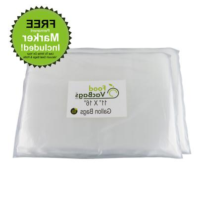 Foodsaver compatible FoodVacBags 100 Gallon Size 11-inch-by-