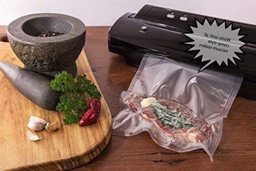 Nutri-Lock Vacuum Sealer 100 Pint Bags 6x10 Inch. Commercial Sealer for FoodSaver, Sous Vide