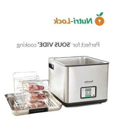 Nutri-Lock Vacuum Sealer 2 11x50 Grade Bag Rolls FoodSaver,