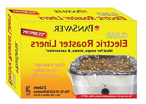 Pansavers 16 - 22 Quart Electric Roaster Liners and Large Ho