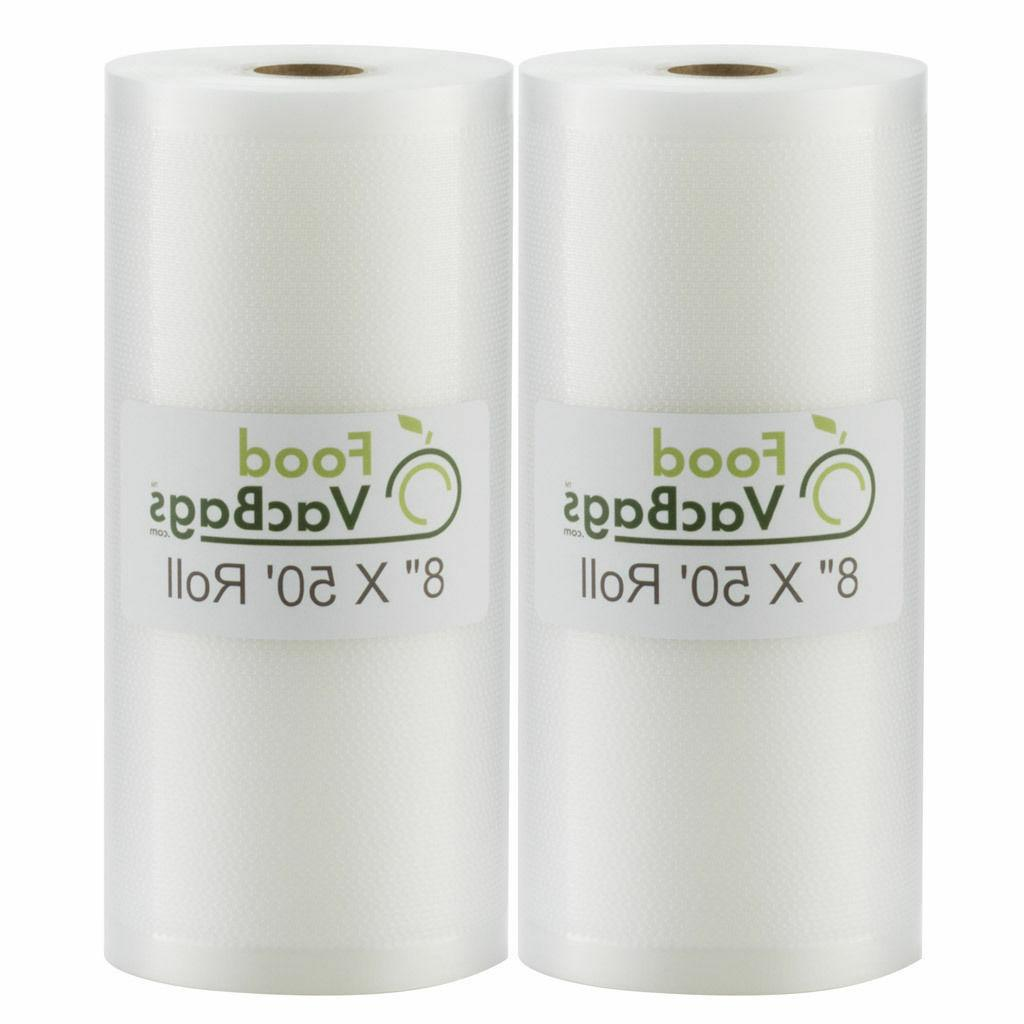 "4 15x50 Vacuum Sealer Bag Rolls 15/"" x 50/' each Heavy Commercial Grade 4 mil"