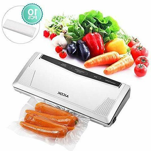 aicok vacuum sealer automatic sealing system starter kit 3mm