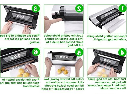 Aobosi Vacuum 3 in Food Sealer Convenient Cutter Bag Packing Vide Cooking Preservation,