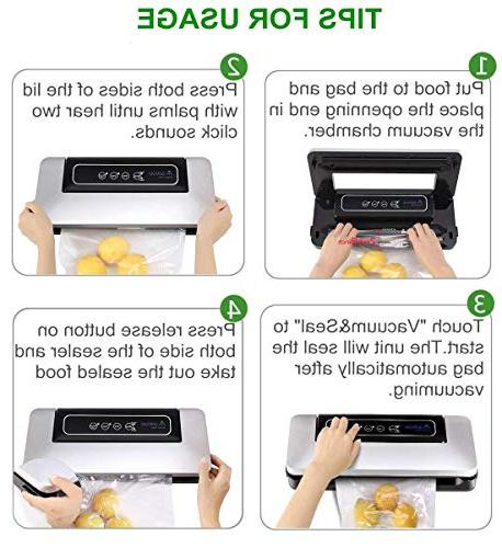 Aobosi Food Savers with BPA Free Roll Food and Sous Low Noise,Normal& Vacuum Modes,Multi-use Vacuum Packing Machine