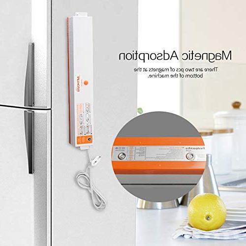 Best Food Sealers 220V/110V Household Food Vacuum Packaging Machine Vacuum Packer Bags Free HURA 1