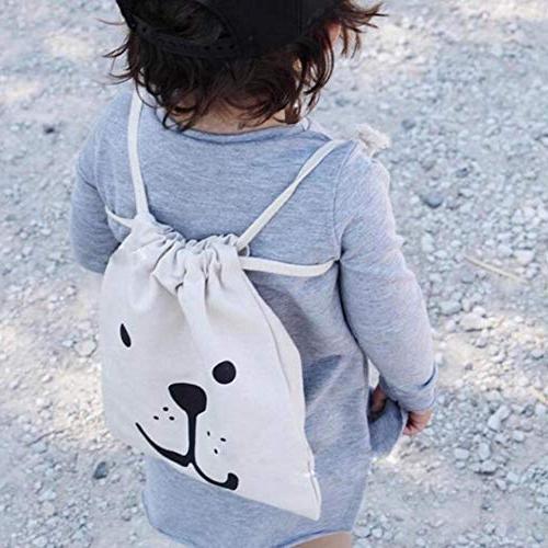 Hakazhi Inc Bags Rabbit Ears Drawstring Backpack Children Organizer for Clothes Hanging
