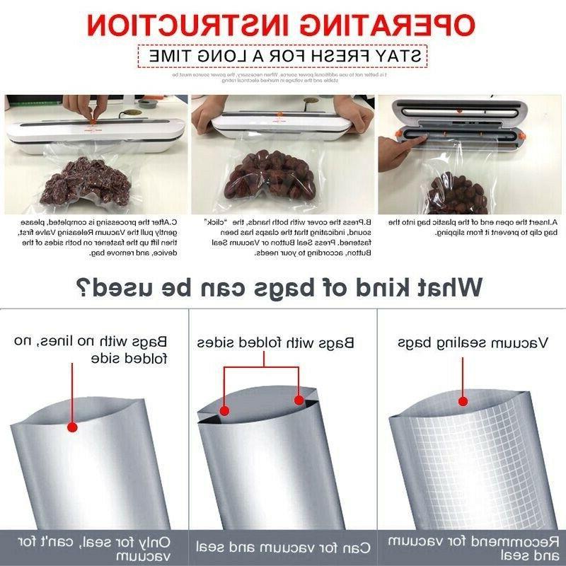 Commercial Saver Vacuum Sealer Machine Seal Meal Foodsaver System Sealin