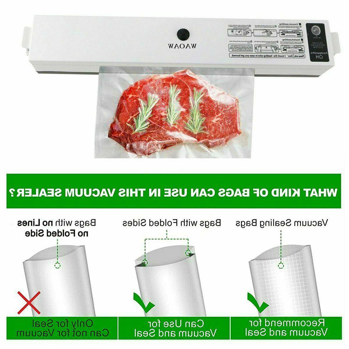 Commercial Vacuum Sealer Machine Sealing with 15 Starter Bags
