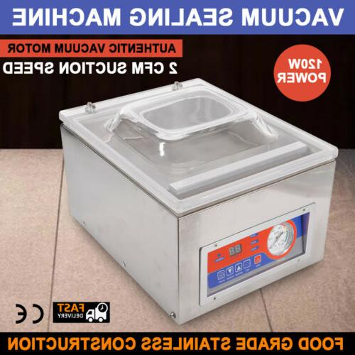 commercial kitchen food chamber tabletop seal vacuum packaging