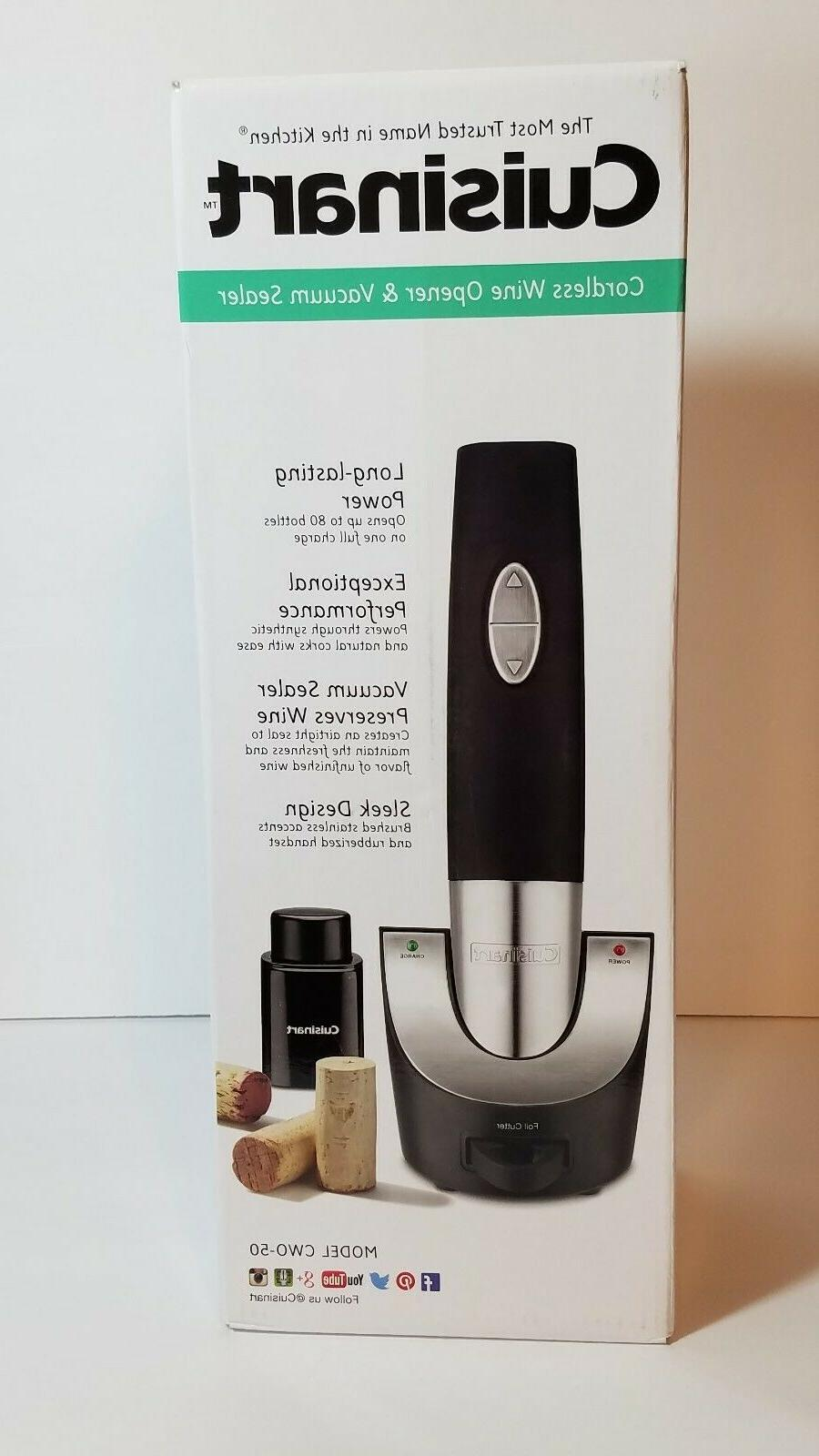 Cuisinart CWO-50 Cordless Wine Opener with Vacuum Sealer - N
