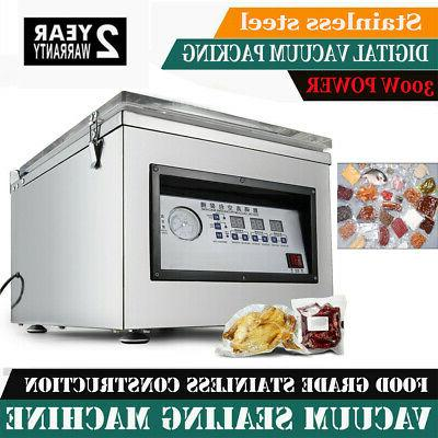 Vacuum Packaging Machine 300W Stainless Steel Kitchen Food C