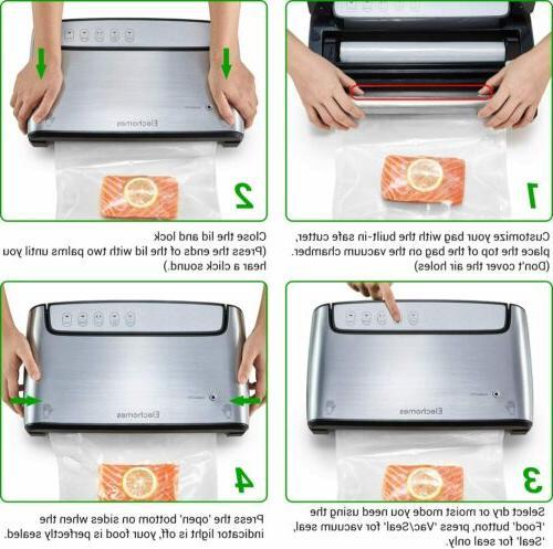 Elechomes Vacuum Sealer Food Electric Vacuum Bag Sealer Preserver