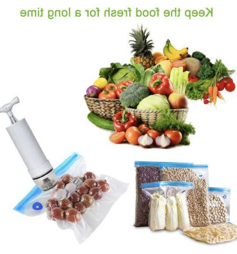 Food Sealer Bags with , 2 Bag Clips Bags