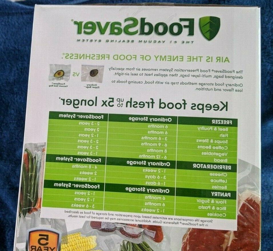 FoodSaver 2 1 Sealer System- NEW Fast SHIPPING