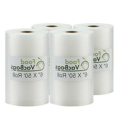 four rolls vacuum sealer bags