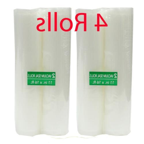 four vacuum seal 11 x 16 rolls