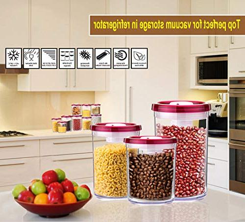 G.S Storage Container Vacuum BPA-Free Clear Plastic, - Piece Set
