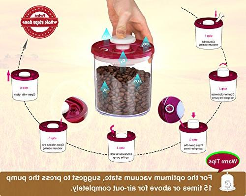 G.S Double Food Storage Container Set Vacuum Seal BPA-Free Clear Plastic, Food Fresh Longer - Set