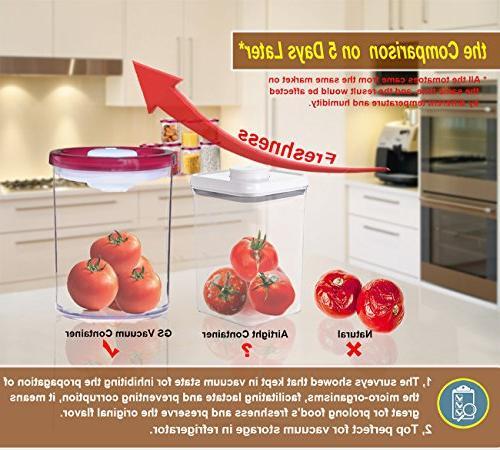 Storage Container Vacuum Seal Lid, BPA-Free Clear Plastic, Keep Food - Piece