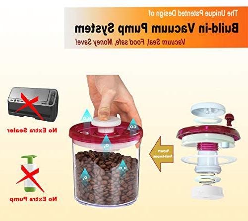 G.S Storage Set Vacuum System BPA-Free Plastic, Keep Food 3x -