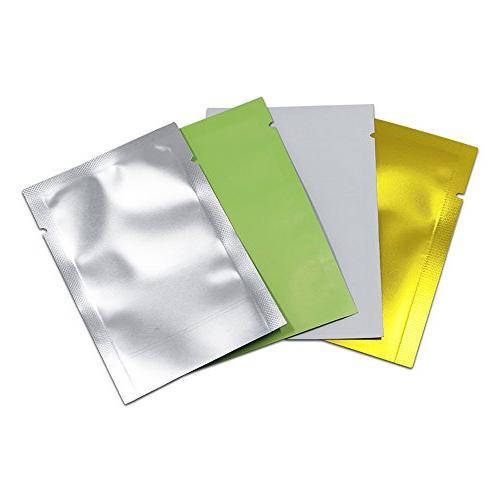 2000 Pcs Multi-Colors Mylar Foil Sealable Sampling Pouches Vacuum Sealer Aluminum Foil Packaging Bags Tea Hand Sample Giveaway 7x10cm