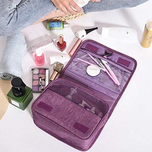 Hakazhi Inc Folding Wall Mounted Hanging Cosmetic Bag Makeup Sundries