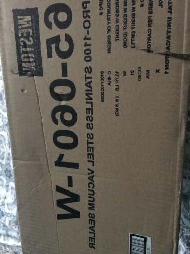 NEW! Weston 65-0601-W Pro-1100 stainless external vacuum packaging