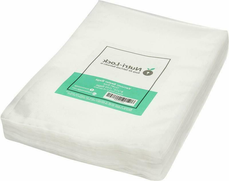 Nutri-Lock Vacuum Sealer Bags. 100 Quart Bags 8X12 Inch. Com