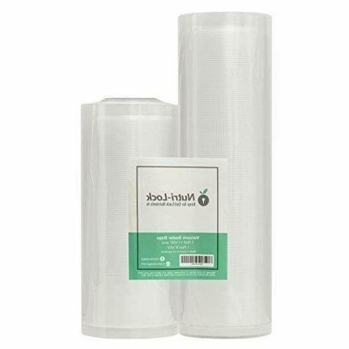 nutri lock vacuum sealer bags 2 rolls