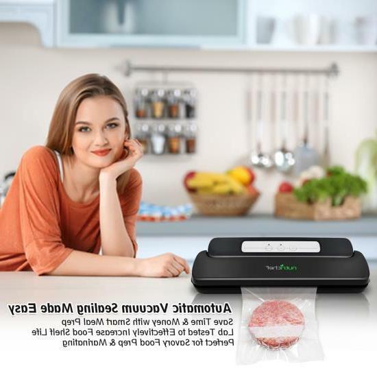 NutriChef PKVS10BK Sealer Electric Air Sealing Food Preserver