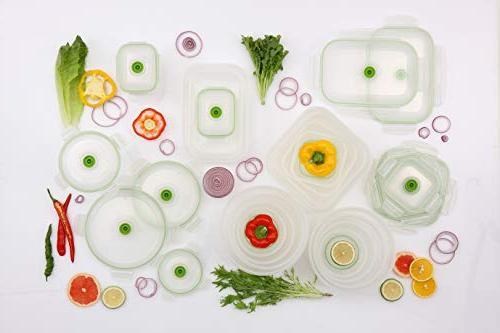 Lasting Vacuum Seal Food Food System - Seal Marinator Rectangle - 19Pc Color