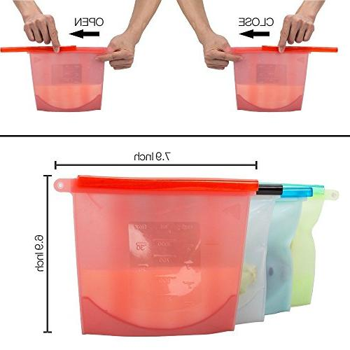 Reusable Food Bag Grade Storage Bag Preservation Bag Container Vegetables