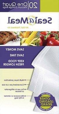 Rival VSB4-6 Seal-a-Meal 1-Quart Vacuum Sealer Bags, by Food