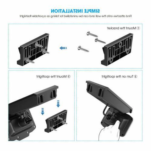 Security Solar Light 8 LED Wireless Lamp Garden Floodlight