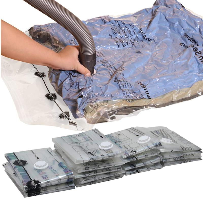 Blanket Clothes Bags Towel Pillows SimpleHouseware 6 Jumbo Vacuum Storage Bags to Space Saver for Bedding