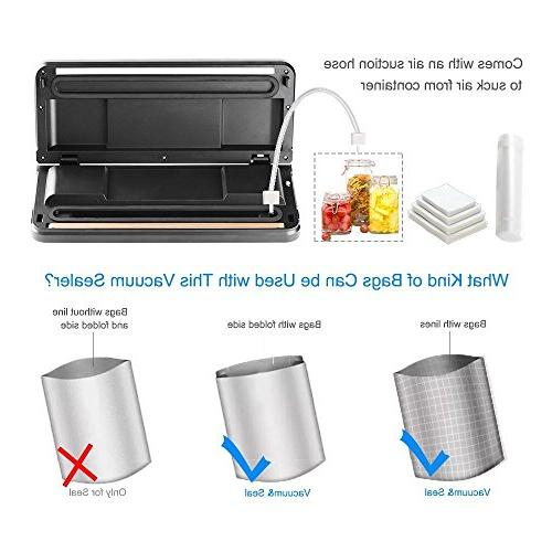 Micho Sous Vide Sealer Machine, Vacuum Sealing for Dry and Moist Foods Multipurpose Sucker with Intelligent Indicator