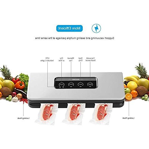 Micho Sous Sealer Newest Automatic Vacuum Air for Dry and Foods Sucker with Indicator Lights Manual