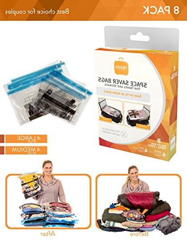 Travis Travel Gear Space Saver Bags. Rolling Multi Pack