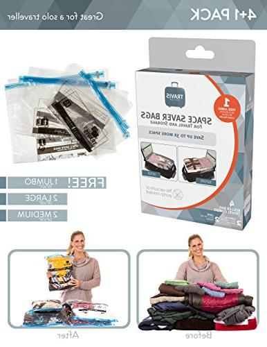 Travis Saver Bags. Vacuum Rolling Compression, Pack of